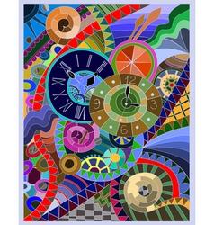 Three of Clock vector image