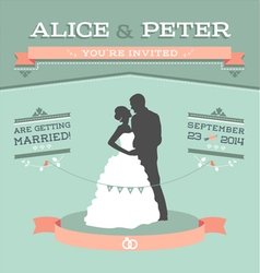 Wedding invitation 2 s vector image vector image