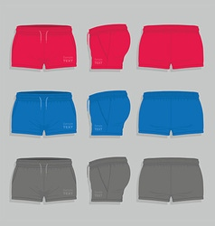 Women sport shorts vector image