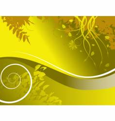 floral wave vector image vector image