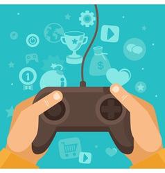 game joystick vector image vector image
