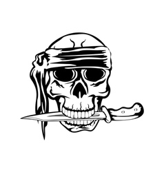 pirate and dagger 2 vector image vector image
