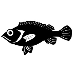 Silhouette of rockfish vector image vector image