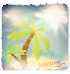 vintage grunge summer background vector image