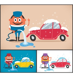 Car Wash vector image