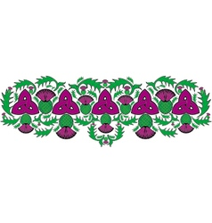 celtic border with flowers of the thistle vector image