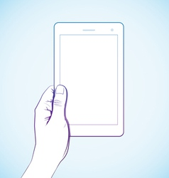 Hand Holding Tablet vector image vector image
