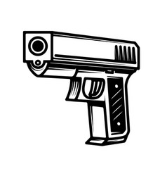 handgun isolated on white background vector image