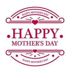 Happy mothers day emblem vector