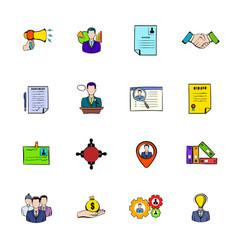 human resources icons set cartoon vector image vector image