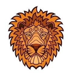 Lion head color mascot vector image