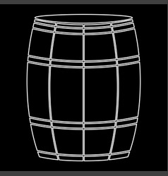 Wine or beer barrels white color path icon vector