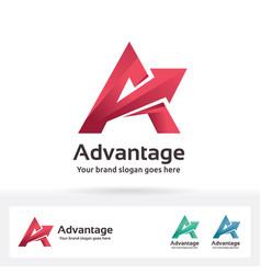 advantage letter a logo vector image