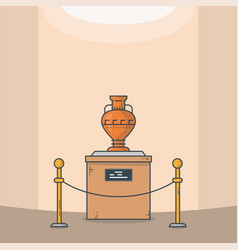 ancient vase line style vector image