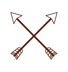 Arrow drawing isolated icon vector