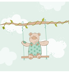 Baby shower card - with bear vector