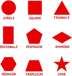 Basic Geometric Shapes with Captions vector