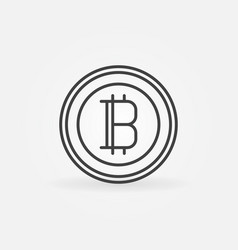 bitcoin line icon cryptocurrency round vector image
