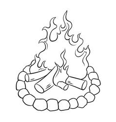 Bonfire coloring book vector