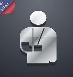 Broken arm disability icon symbol 3D style Trendy vector