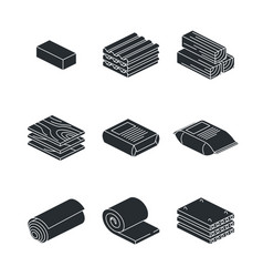 building and contruction materials icons set on vector image