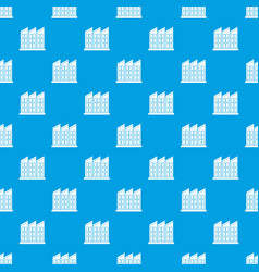 Building pattern seamless blue vector