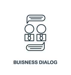 Business dialog icon from reputation management vector
