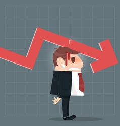 Business failure vector image