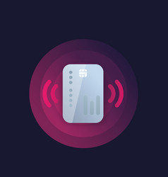 Contactless credit card payment icon vector