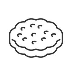 Cookie line icon vector