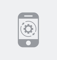 Customize preferences settings on smartphone vector