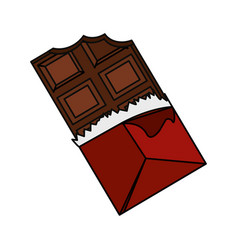 delicious chocolate candy bar vector image