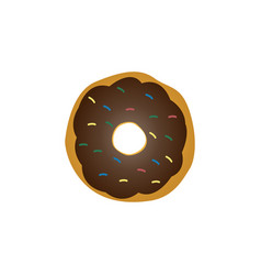 donut graphic design template vector image
