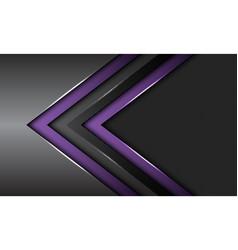 Double purple dark grey metallic arrow circle mesh vector