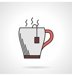Elegant teacup flat color icon vector image