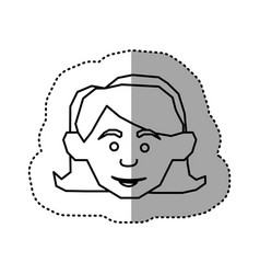 face happy woman icon vector image