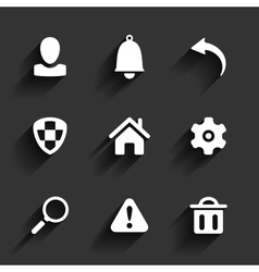 Flat application icons vector