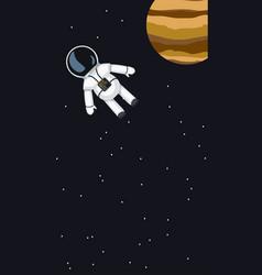 Flying in space astronaut vector