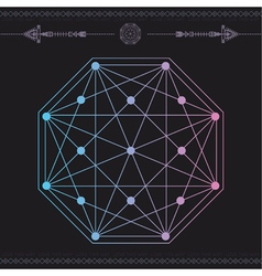 Geometric icon magic 5 vector