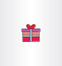 gift box icon symbol vector image