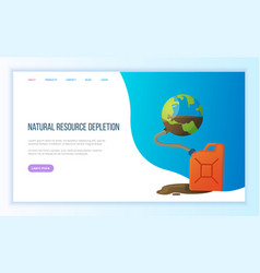 global danger natural resource depletion vector image