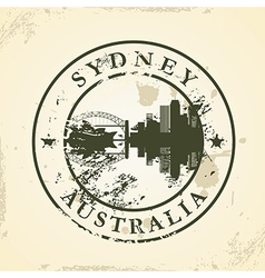Grunge rubber stamp with Sydney Australia vector image