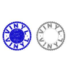 Grunge vinyl textured watermarks vector
