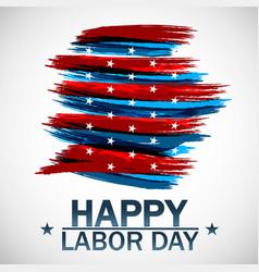 happy labor day beautiful usa vector image