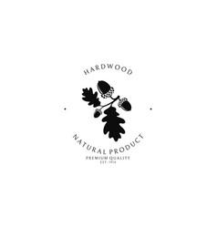 Hardwood logo template vector