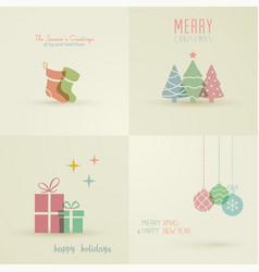 holiday cards collection vector image
