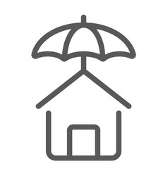 house protection line icon real estate and home vector image