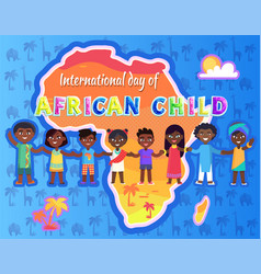 international day of child vector image