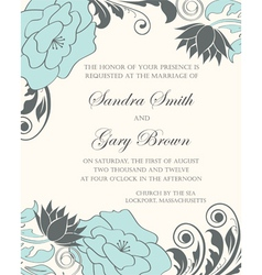 Invintation floral card vector image