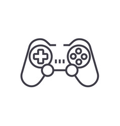joystickgamepad line icon sign vector image